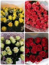 本数指定のバラ花束